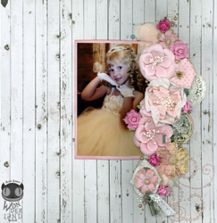 2 Cute by Alice Scraps Wonderland is a contrast of embellishments and white space.