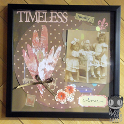 Timeless Family by Alice Scraps Wonderland is a framed scrapbook layout.  The photo is from Austria circa 1920s.